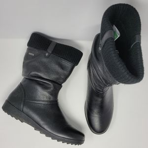 Cougar Vienna Waterproof Leather Boots Black Size 10